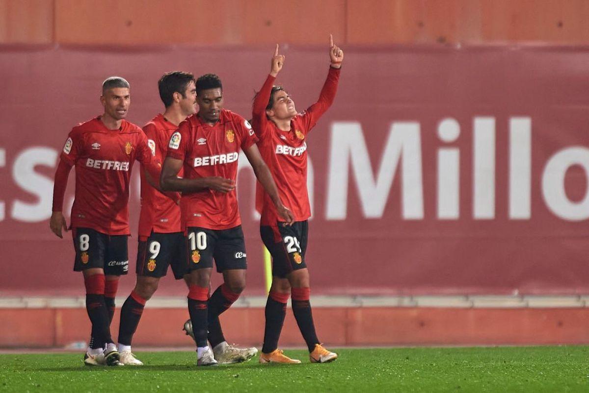 Luka Romero, con el Mallorca